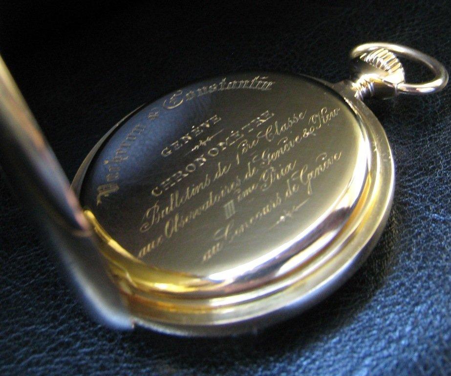 một chiếc Vacheron Constantin được chứng nhận chuẩn Chronometer thời xưa